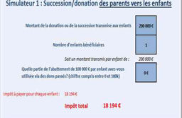 Simulateur excel : calcul des droits de succession/donation